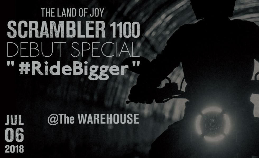 "THE LAND OF JOY - SCRAMBLER 1100 ""#RideBigger"""