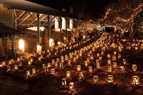 TAKEO・世界一飛龍窯灯ろう祭り2019「光のバレンタイン in 飛龍窯