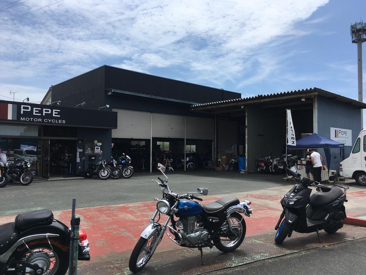 オートバイブックスの出張販売 in PEPE MOTOR CYCLES